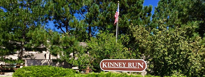 The Kinney Run community is a collection of 58 townhouse-style units located in Golden, Colorado