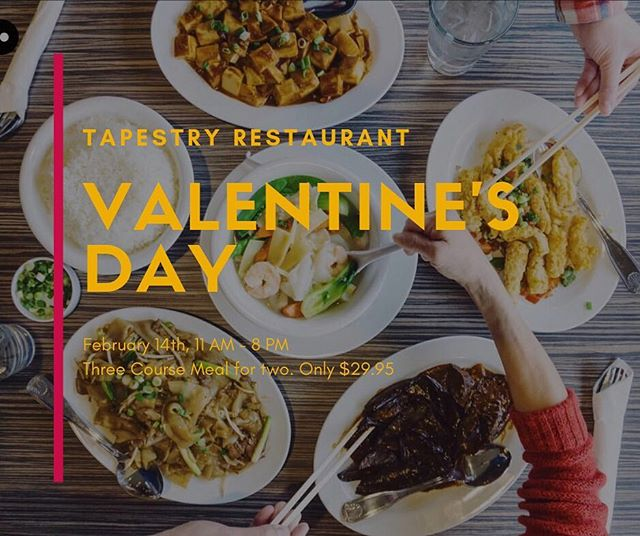 Looking for the perfect place to spend Valentine's day? - This Valentine's day we have an amazing deal that consists of a three-course meal! - You will be able to choose an appetizer, two entree dishes, and one dessert all for only $29.95! ($36 value!) - Come spend Valentine's day with and have an unforgettable night! - Link in bio for more info!