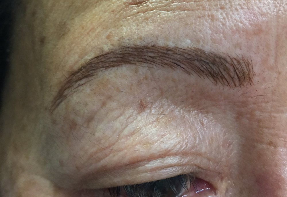 Brow After Microblade Procedure