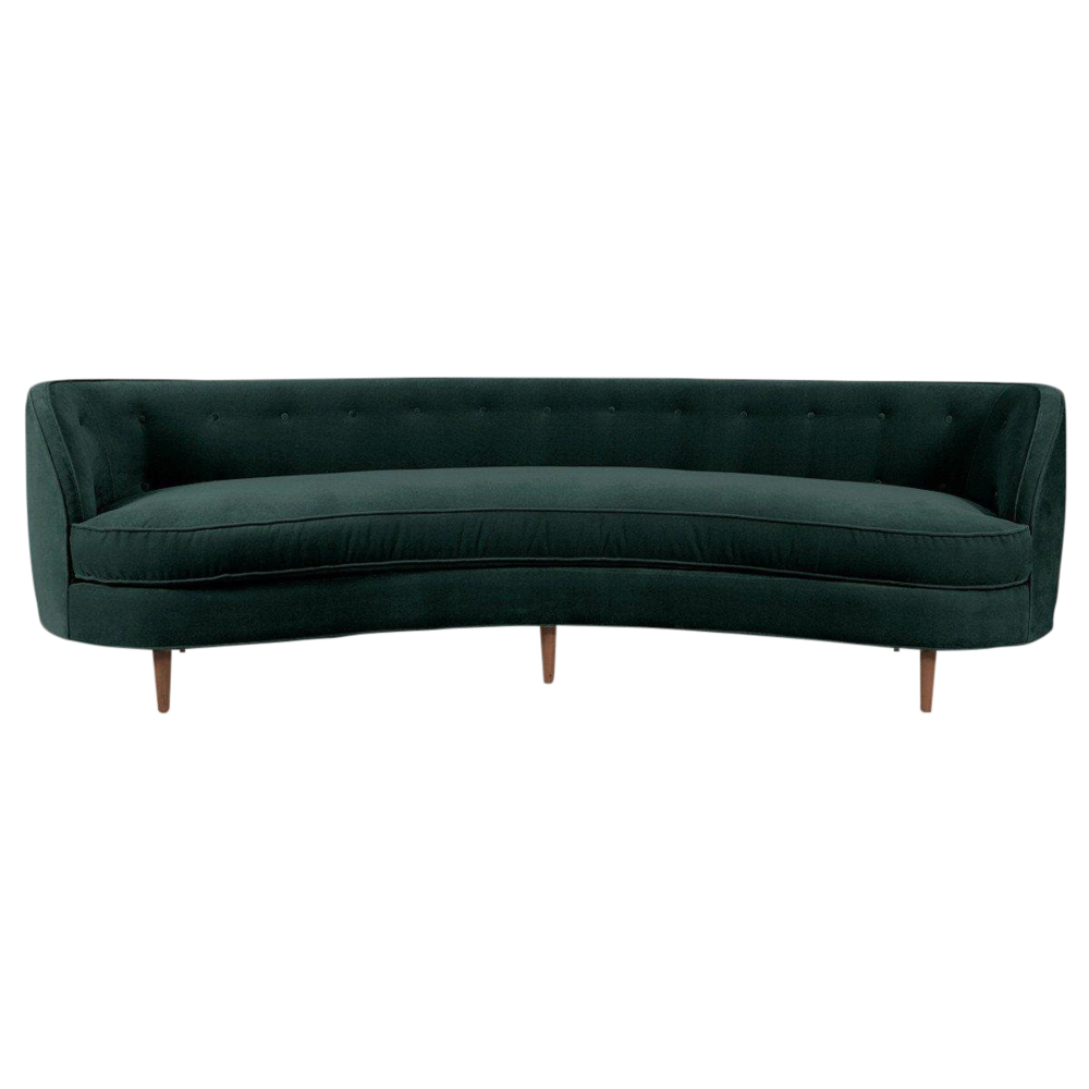 St. Tropez Curved Sofa on Chairish