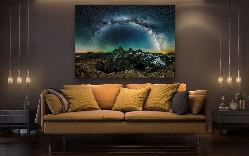 GRAND RAFFLE PRIZE - $750 value  Milky Way Arching Over Grand Teton National Park  Fine art print by  Sean Hoyt Art
