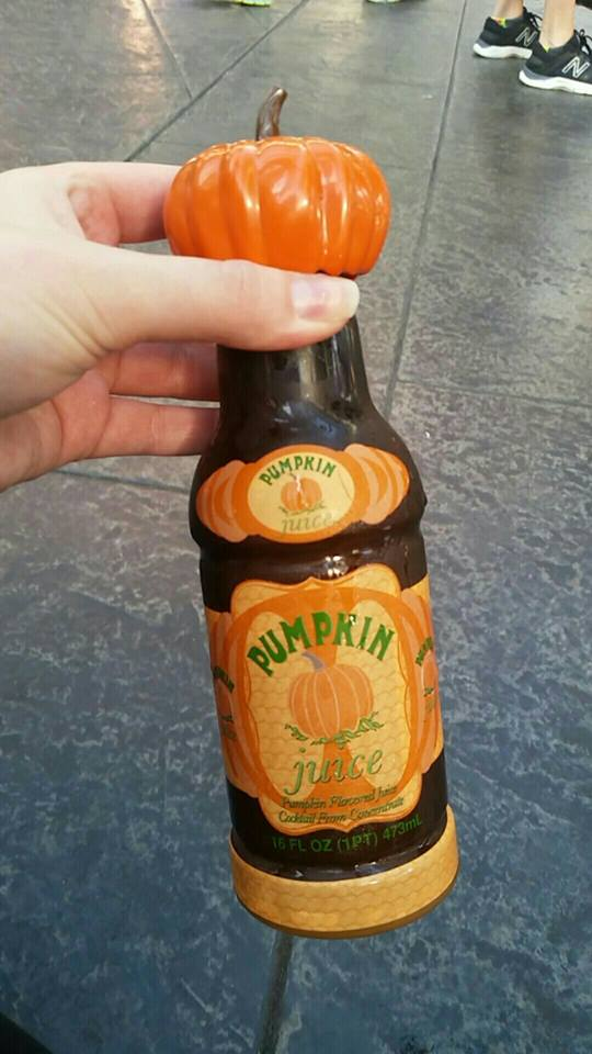 Pumpkin Juice at Harry Potter World.