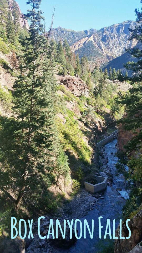 The view from the Box Canyon Falls in Ouray, Colorado.
