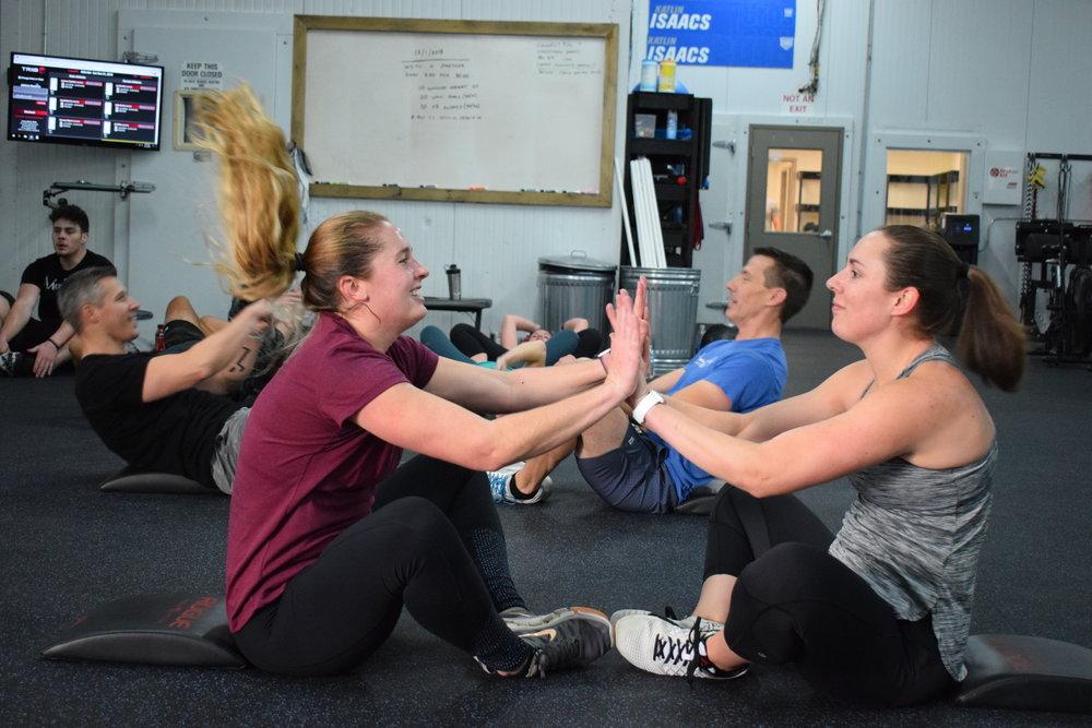 Jen and Ali Community Workout.JPG