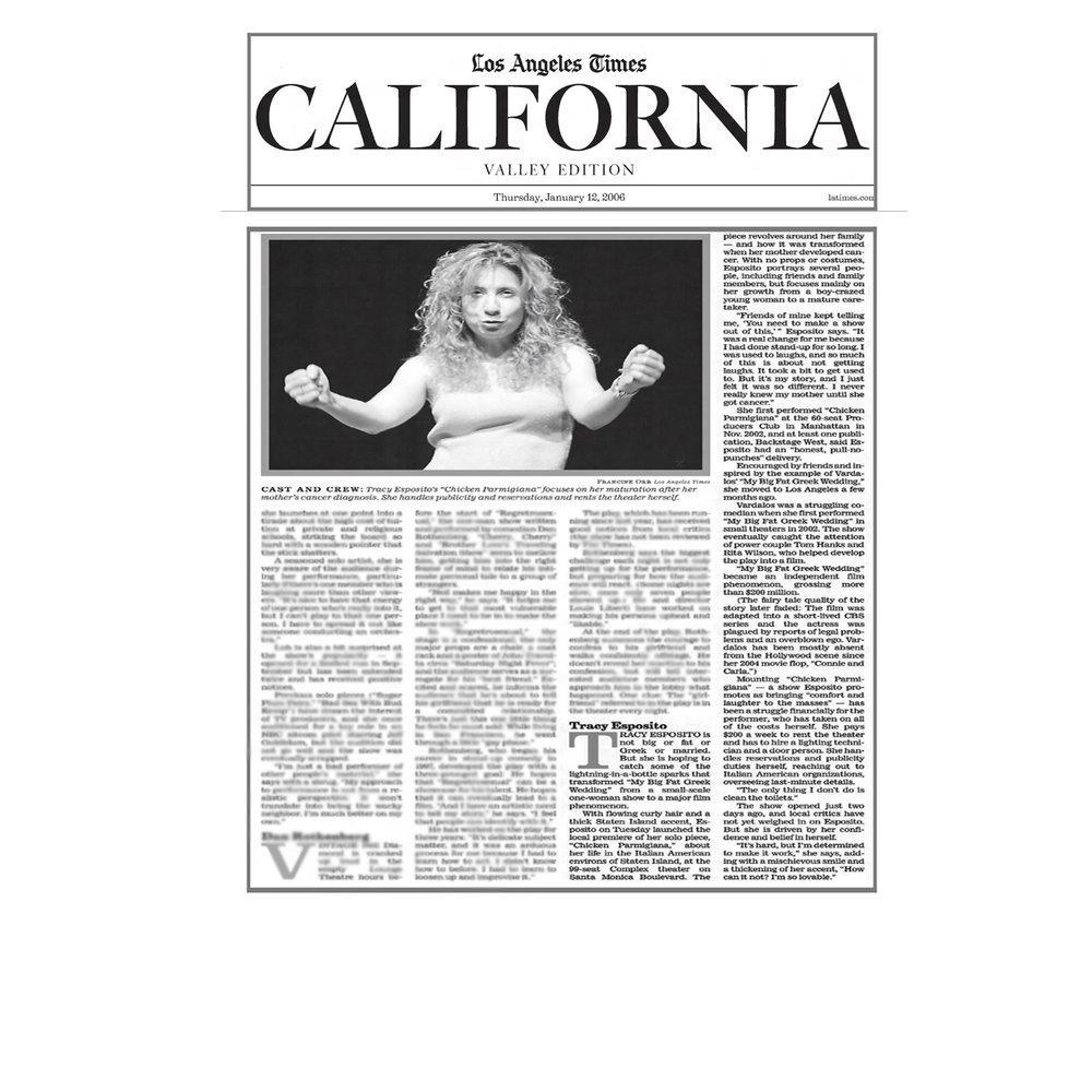 Tracy Esposito in LA Times