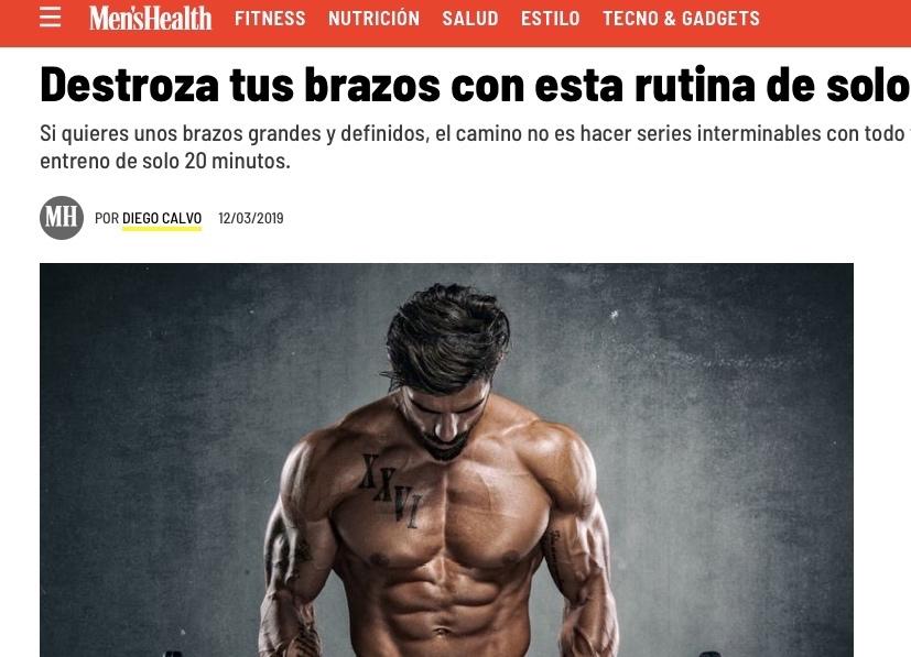 Men's Health - Rutina sobre un entrenamiento muy intenso de brazos en tan solo 20 minutos
