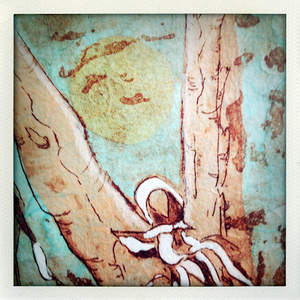 Nature/Nurture folio: detail of Annette Vincent's print