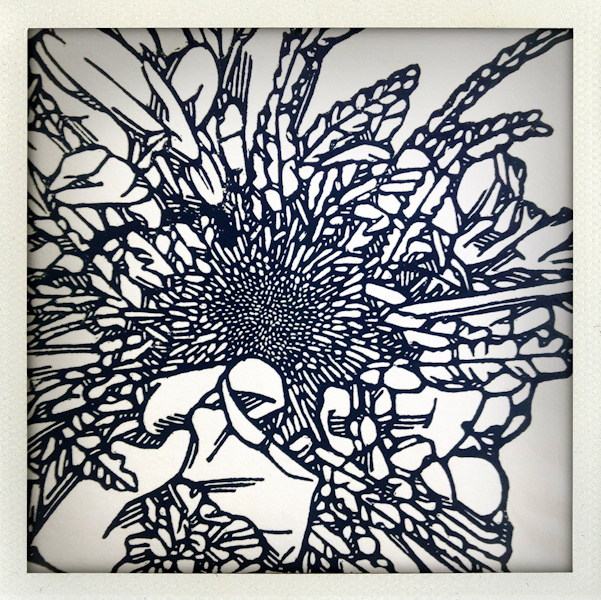 Nature/Nurture folio: detail of Anna Austin's print