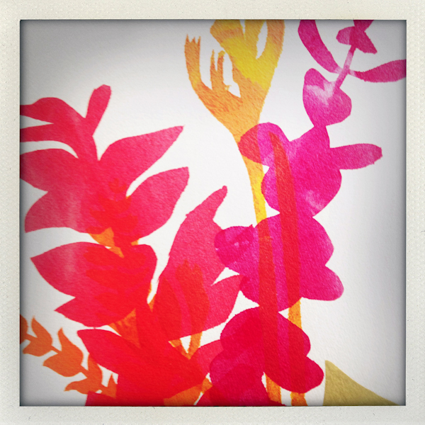 Nature/Nurture folio: detail of Lauren Simeoni's print