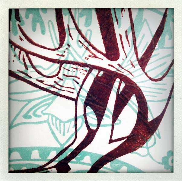 Nature/Nurture folio: detail of Lloma Mackenzie's print