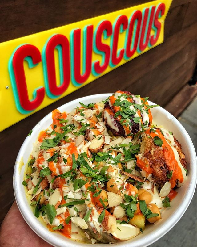 It's the last day to get your #COUSCOUS fix! Thank you for all your support at @urbanspacenyc's #MadSqEats! ❤️😁 📍: @couscousnyc 🏙: Urbanspace's Madison Square Eats 👇🏼TAG YOUR FRIENDS!👇🏼