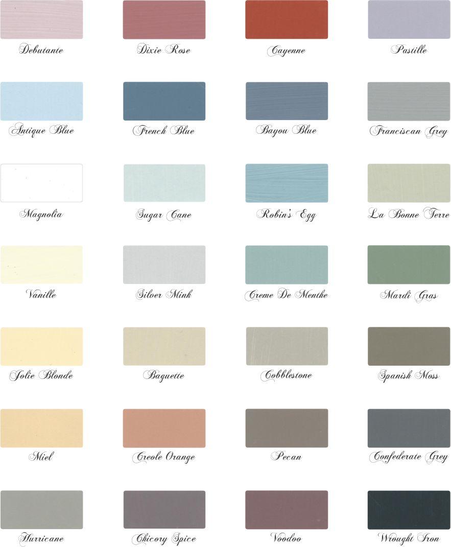 La Craie Color Chart