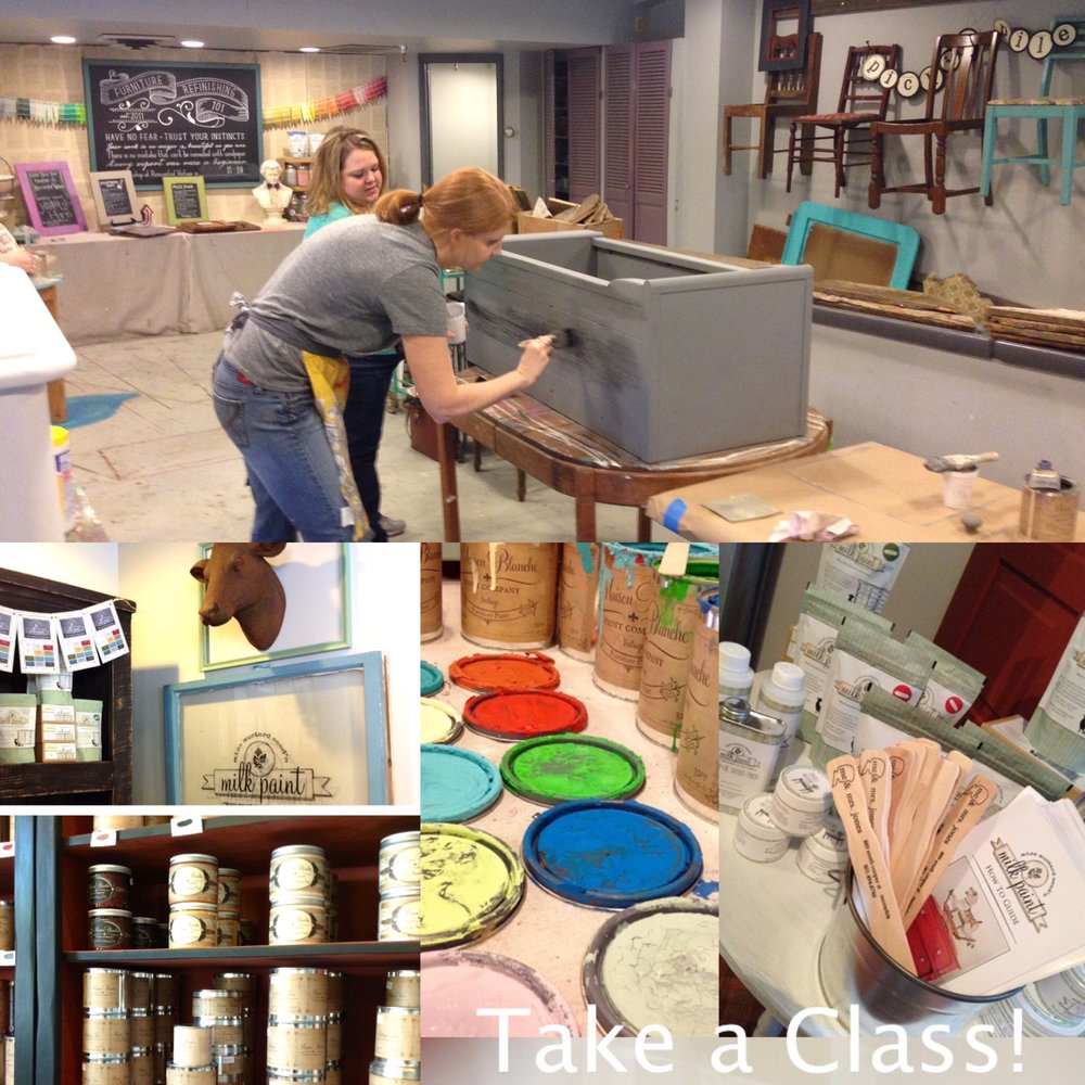 Check out some of the great projects people have created during out furniture paint workshops! - Check out our schedule to see what dates would be right for you!