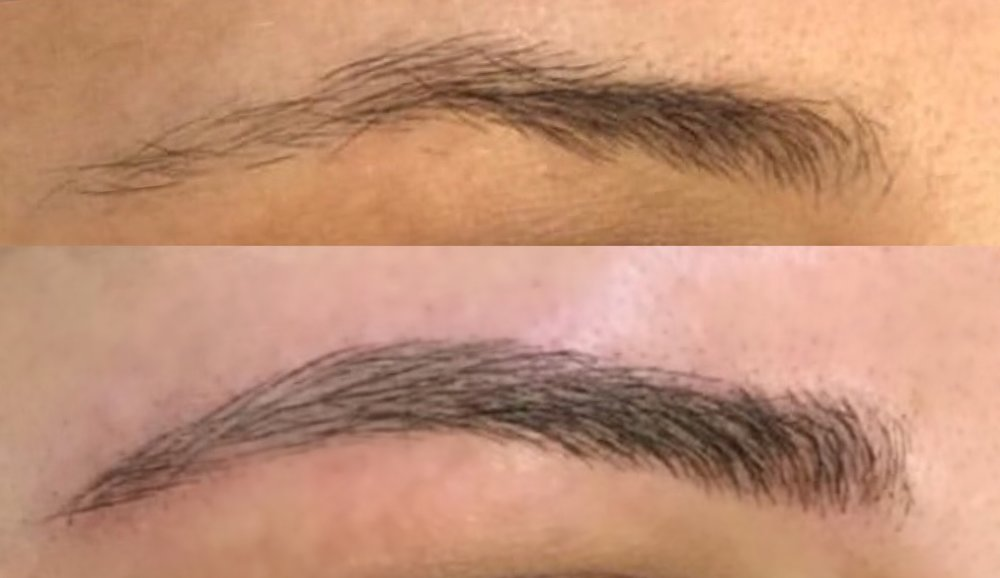 Before And After Microblading Eyebrow Tattoo Microblading By