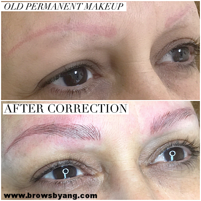 before and after microblading eyebrow tattoo — Microblading By ...