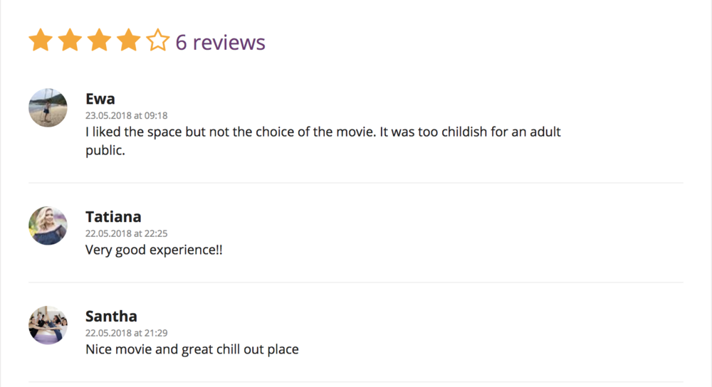 Review via:  Funzing