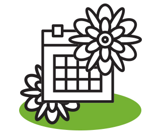 MOnthly change of flowers - Each month we'll visit and bring a whole range of new looks for you to choose from