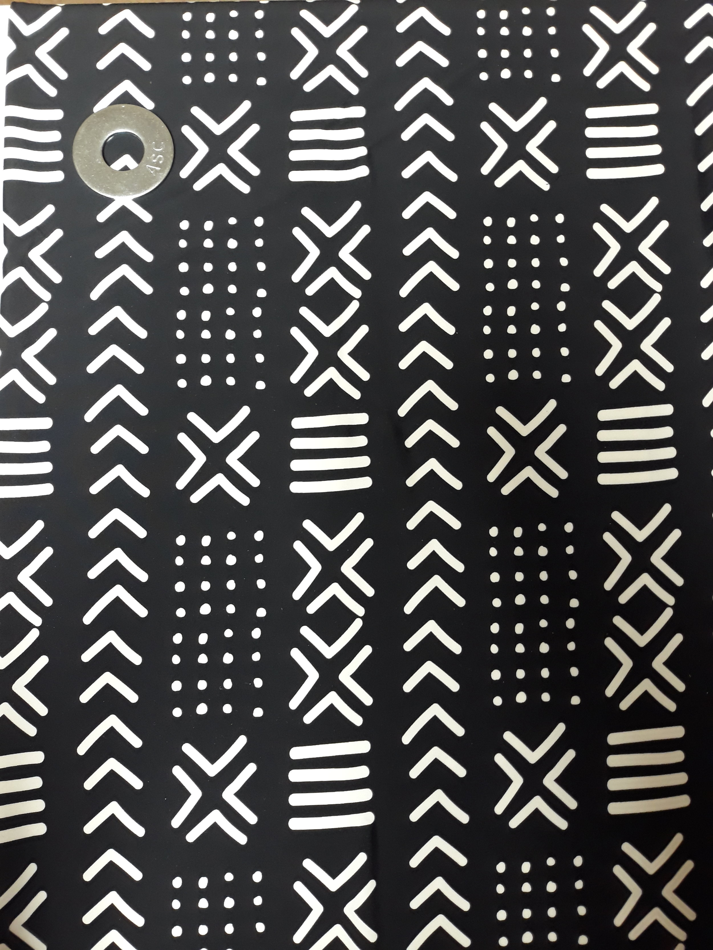 aed06b233a61 4 Way Stretch Black White Mudcloth #1 African Print Fabric BTY ...