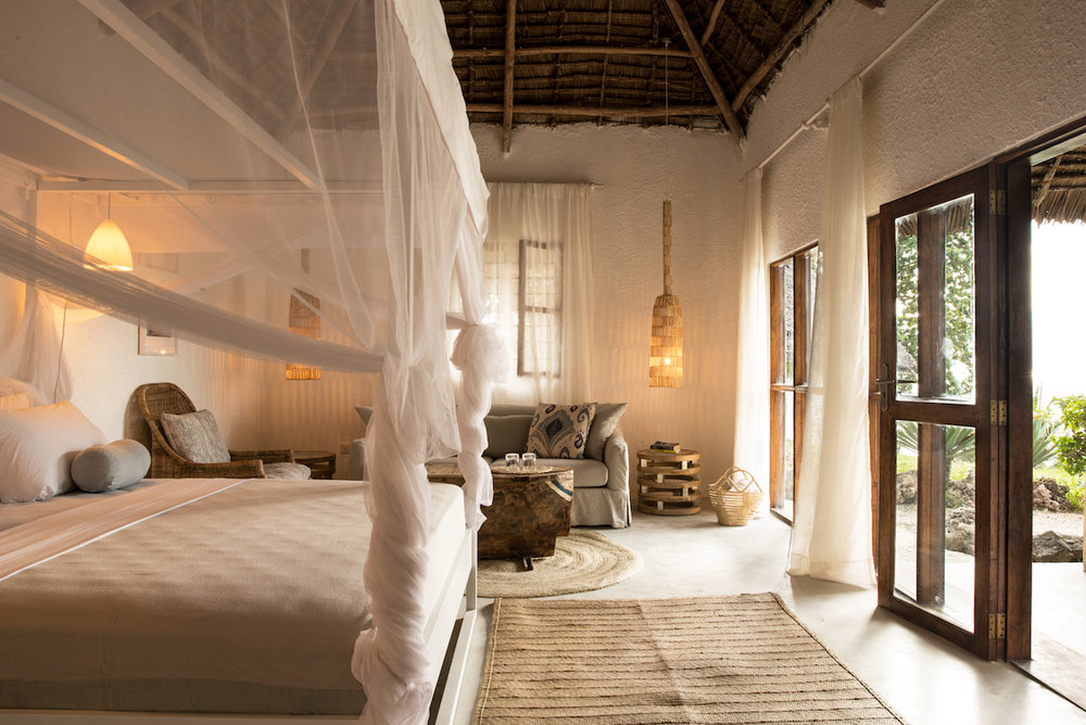 Chuini Zanzibar Beach Lodge   The lodge is set on the west coast of Zanzibar, twelve kilometres north of Stone Town, and its bungalows are spread out over a 1.5-hectare area, allowing for excellent privacy.