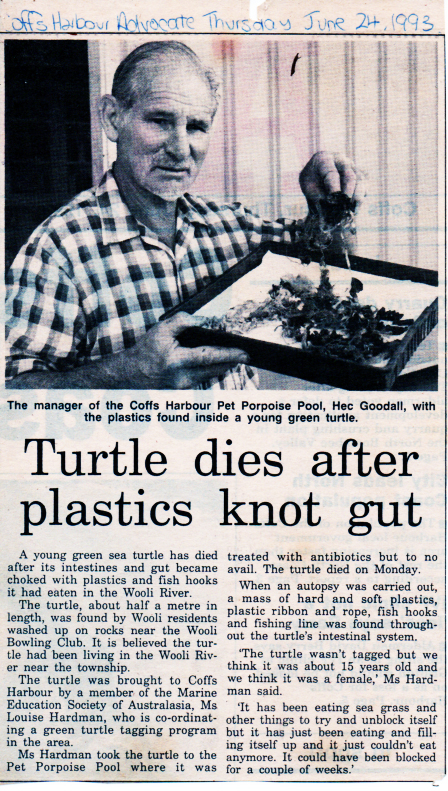 Coffs Advocate, 24th June, 1993.