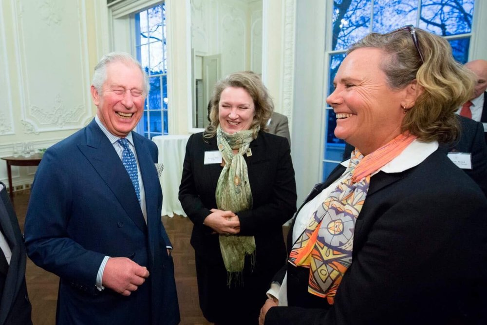 Photo: Louise Hardman meets Prince Charles at the ISU meeting. (Photo: ISU)