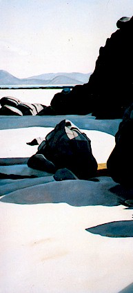 Anchor Cove 1, Spirits Bay   - 2003, oil on linen, 460 x 910mm