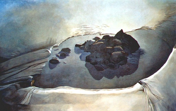 Beneath Kapowairua, Spirits Bay  , 2003 - oil on linen,  910 x 610mm