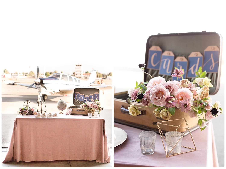 Fullerton Hangar // Blush and Navy Aviation Wedding Styled Shoot ...