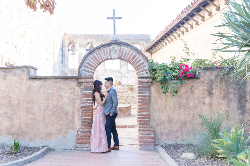 Christine + Dominic - mission san juan capistrano wedding anniversary - orange county-0065.JPG