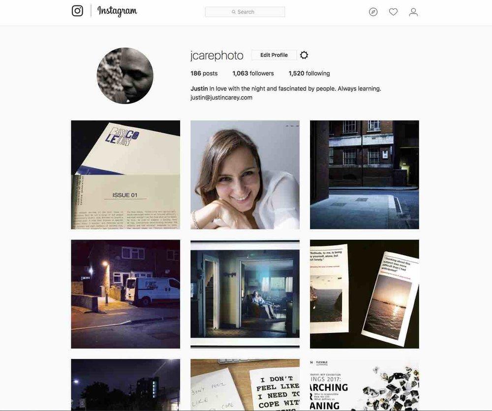 My Instagram homepage