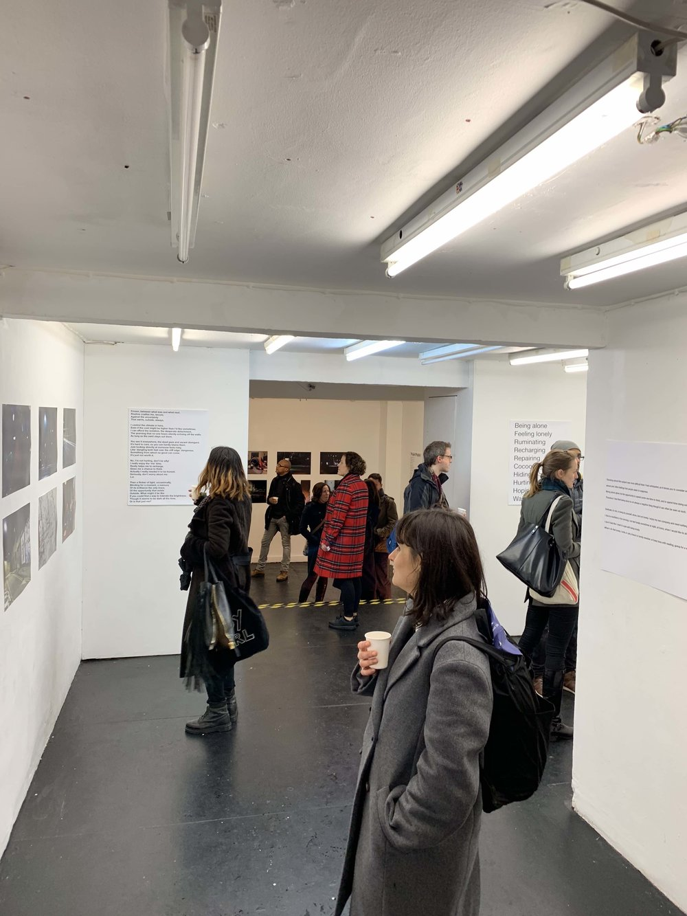 Visitors at the Private View on 27th November 2018