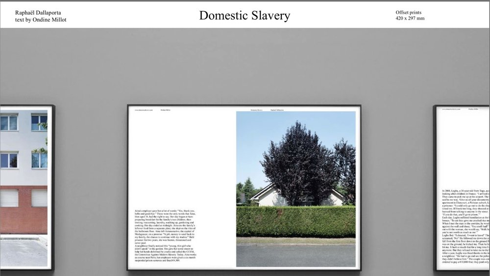 Example of a page from Raphaël Dallaporta's work  Domestic Slavery    from artist's website