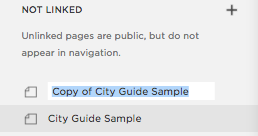 Duplicated page becomes 'Copy of ____'
