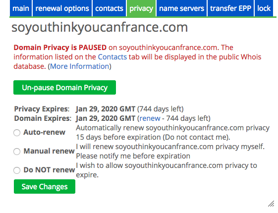 Pause Privacy to continue with domain transfer.png