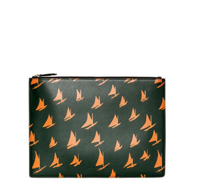 Leather Orange Sail Print Document Case by MARNI - £380   www.marni.com