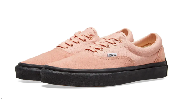 """Vans X Purlicue Era's """"Year of the Pig"""" Rose Cloud and Black sneakers Photo: www.endclothing.com"""