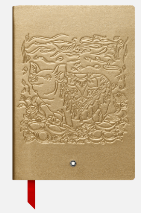 """Montblanc's """"The Legends of Zodiacs, The Pig"""" Fine Stationery Notebook #146 Photo: Montblanc"""