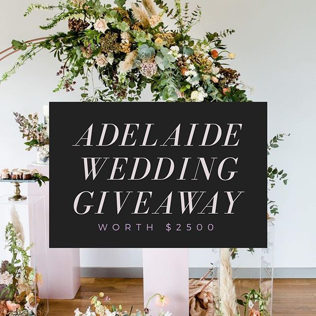 ✨C O M P E T I T I O N  T I M E ✨  You could be the lucky winner and #WIN this Adelaide Wedding Prize!  Includes Vouchers from our popular Adelaide supplies!! Yep the whole lot of it could be YOURS! Worth over $2,500. T & Cs apply for each supplier. ➖  HOW TO ENTER: 👇🏻 1)  Go to @adelaidewedding like and TAG your besties on the GIVEAWAY post  2)  FOLLOW @entertainmentadelaide @adelaideweddinghire @frostycakesco @thestylistguide_adl @skylaroseeofficial @seehskincare @jacquileopardicelebrant @idopaws @thebridelab @l.a.makeup.artist @oakandivory_ @davishphoto . ➖ ✨BONUS ENTRY Share this post in your stories – don't forget to tag us so we can see! This giveaway is open to Adelaide only, enter as many times as you like, the more people you tag the better chance you have of winning!! Giveaway closes 20th March Midnight, winner will be randomly chosen & announced on the 21th March. . ➖ ✨ GOODLUCK EVERYONE ✨