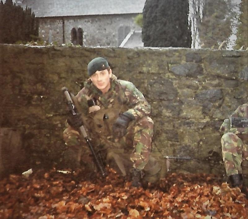 Jamie on patrol in Northern Ireland