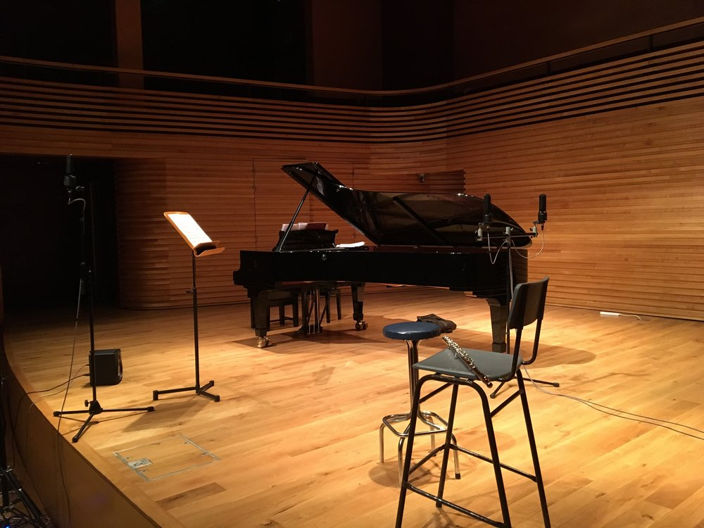 Ready for recording at Yehudi Menuhin Concert Hall, Sept 2017