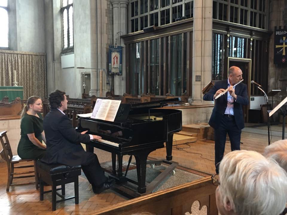 With Neil Crossland during our recital in Harrow, Aug 2017