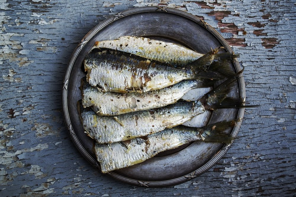Ensure you're getting two portions of omega-3 rich food per week. Good sources include: sardines, salmon, mackerel and other oily fish. Vegetarian and vegan options include flaxseed and chia seeds but are much smaller quantities.