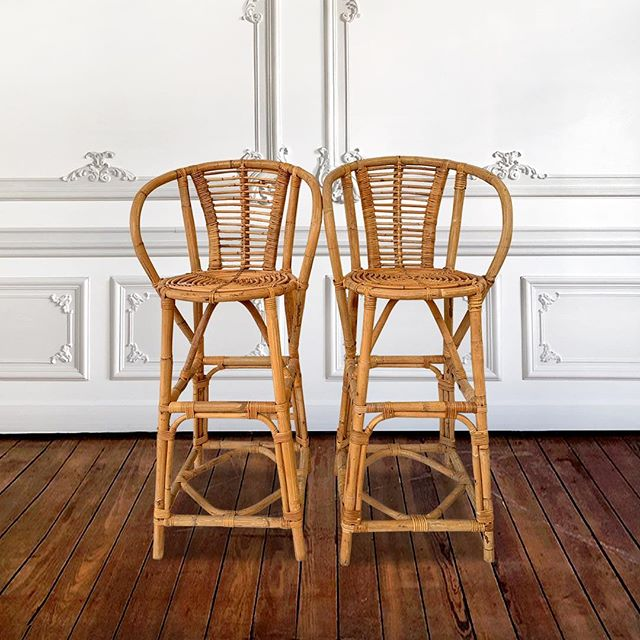 Set Of 4 Bamboo Bar Chairs  Buy Online: https://affordablefurniturecollection.com/shop/set-of-4-bambou-bar-chairs  #furnituredesign #interiordesign #uniquefurniture #eclecticinteriors #vintagefurniture