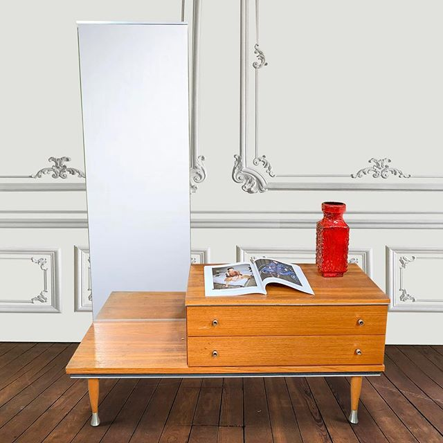 Nordic sideboard w Mirror  #interiordesign #uniquefurniture #eclecticinteriors #vintagefurniture #furnituredesign