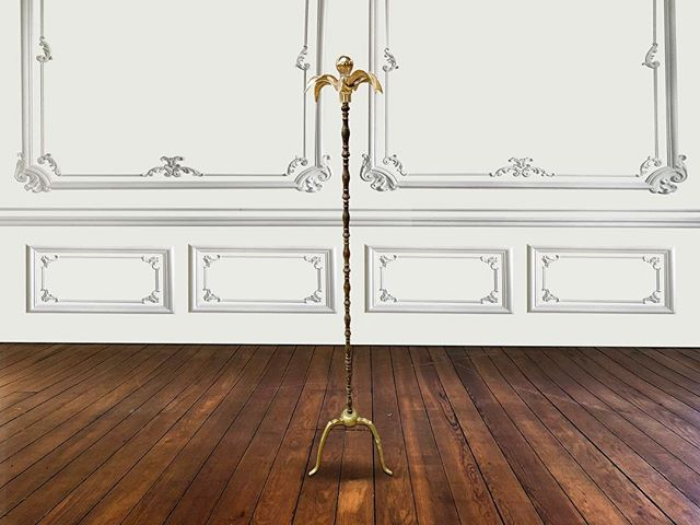 Golden Standing Flower Lampe  Personal favourite 😅 #eclectisme #interiordesign #uniquefurniture #vintagefurniture #furnituredesign #lighting