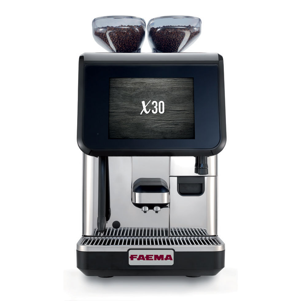 "X30   Endless customization possibilities available through the revolutionary Touch Screen with a 10.4"" inch display. Wide range of beverages, always guaranteeing the best quality in the cup."