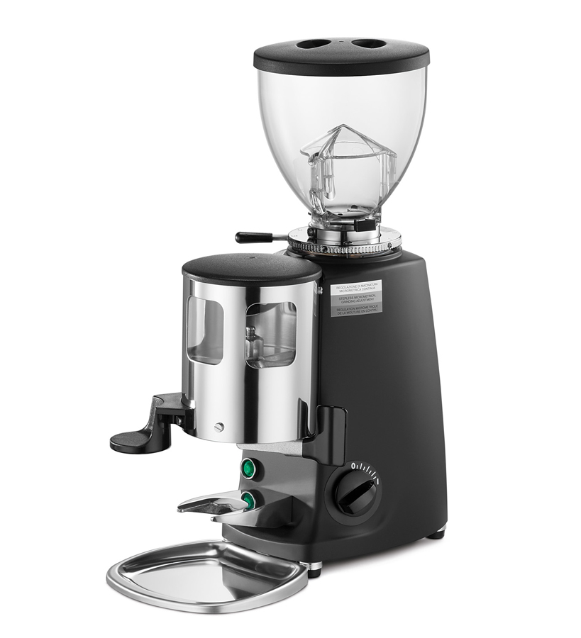 Mini   Grinder-doser with flat blades suitable for low consumption (decaf, single-origin coffee).