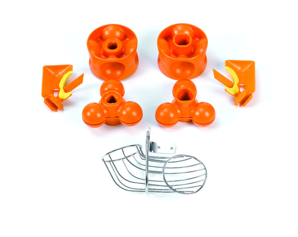 Kit S Versatile Pro   Perfect to squeeze smaller sized fruit, specially small oranges, tangerines and limes; with diameters from 67 mm to 45 mm. Easy installation and disassembly.