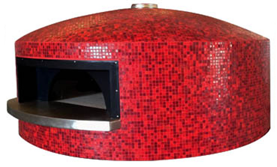 Granvolta   Inspired by the traditional Neapolitan ovens Granvolta model is finished with a peculiar dome shape. Its completely round shape allows an easy positioning and orientation in any context. When assembling the oven, the upper dome part is hand-made on site and is the only model that features a central smokes' exhaust.