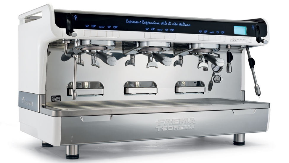 "Tall Cup - This FAEMA Teorema features a taller cup clearance (5.5"") than the standard Teorema, and one of the steam wands has been upgraded to an ""Autosteam-Milk4"" system which automatically does frothing and/or simple heating without manual intervention for 4 different milk quantities."
